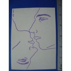 Signed Painting,Card  by Osvaldo Lugo Cuba