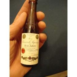 Bacardi Miniature Bottle,Santiago de Cuba,filled  1950s