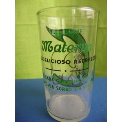 Advertising glass Base ball Cienfuegos y Materva Negro League 1950s Cuba