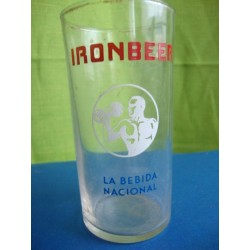 Advertising glass Iron beer ,cuban soft drink 1950's