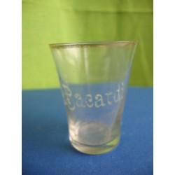 Bacardi small rum glass 1920s engraved