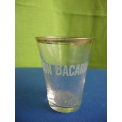 Bacardi small rum glass 1930s - 1940s engraved
