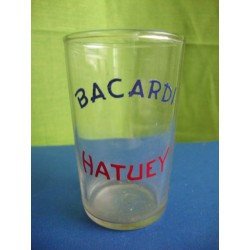 Bacardi  rum glass 1950s with Enamel No.2