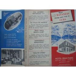 Travel brochure ,Visit Matanzas,Cuba 1950