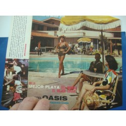 Travel brochure ,Hotel Oasis,Varadero Beach ,Cuba 1950