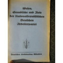 Wesen, Grundsätze und Ziele der Nationalsozialistischen Deutschen Arbeiterpartei,Alfred Rosenberg 1923