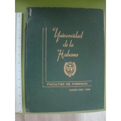 Universidad de la Habana  Curso 1952-1956,Facultad de Farmacia