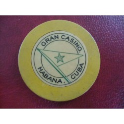 Gran Casino Chip,Havana Cuba 1950s