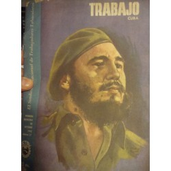 Trabajo,Cuban  Tobacco magazine ,Cover with Castro,1962 rare