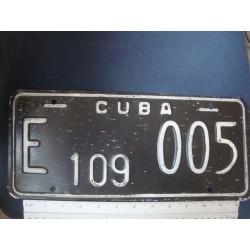 black License Plate,Diplomatic Cuba