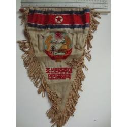 embroidered pennant north korea,1970s(?) very rare