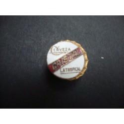 Cristal Beer Pin,Cap 1940s - 1950s