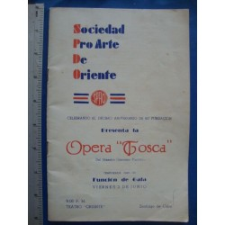 program Tosca 1949 Cuba, signed by EUGENE CONLEY,CESARE BARDELLI and more Opera