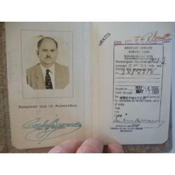 Diplomatic Passport Cuba,1956 Carlos Bernardez Hernandez