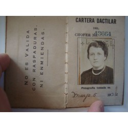 Taxi CHAUFFER'S LICENSE,woman  Marianao,Havana ,Cuba 1936 - 1952