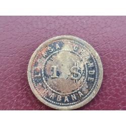 Token LA CASA GRANDE, Habana, 1 Pesos,25 Centavos?