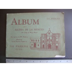 Album de la Iglesia de la Merced,Havana Cuba 1940,our lady of mercy church