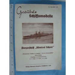 ironclad,steel ship ADMIRAL SCHEER,Graubele Ship models 1940s