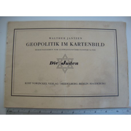 THE JEWS - GEOPOLITIC IN MAPS,1940 extreme rare
