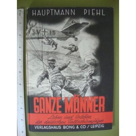 1943 THIRD REICH PARATROOPER PHOTO BOOK,Hauptmann Piehl
