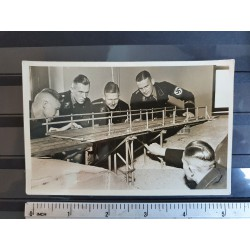 Postcard,SS Men training on how to blast a bridge,very rare 1940s