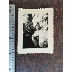 orginal photograph Sepp Dietrich,commander Leibstandarte Adolf Hitler,colonel general Waffen SS with LENI RIEFENSTAHL,very rare