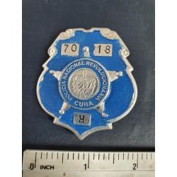 Police Badge,cuba PNR Policía Nacional Revolucionaria,blue,Havana