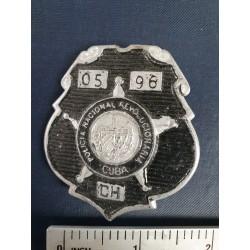 Police Badge,cuba PNR Policía Nacional Revolucionaria,black ,Havana
