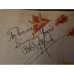 BILLY and BOBBY MAUCH AUTOGRAPHES, SIGNED ON 2 ALBUM PAGES,1940s