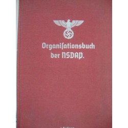 ORGANIZATIONAL BOOK OF THE NSDAP  1938 + alphabetical index book,RARE!!!