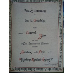 the soldier's dress of honor 1936,+certificate of General Zuern 1941