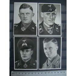 4 rare collector's pictures of tank soldiers NCOs of the army with the knight's cross  1940