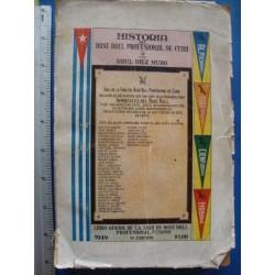 Historia del Base Ball Profesional de Cuba,1949 cuban baseball guide by Raul Diez Muro