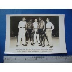 7 Boxing Photos,Propaganda RON SANTA CRUZ,1945/1946