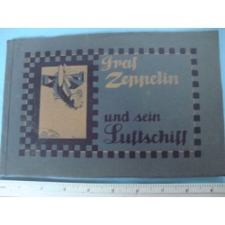 Graf Zeppelin and his airship luxury edition 1908,extreme rare!!!!!!