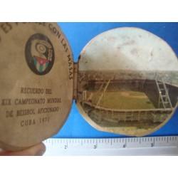Souvenir Baseball 1971 Cuba,extreme rare- Negro League