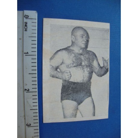Wrestling card Cuba,1950s Ace Lavando, Yo Descansando No.116 Kola Kwariani