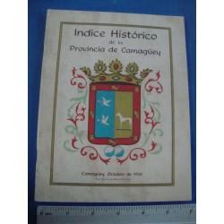 indice historico de la provincia camagüey,1968 rare