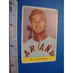Julio Bécquer Chicle  baseball card,Cuba No.83