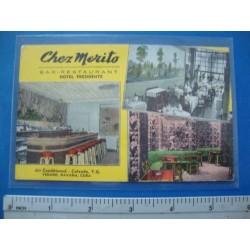 Chez Merito,Bar Restaurant Hotel Presidente,Vedado Havana Cuba