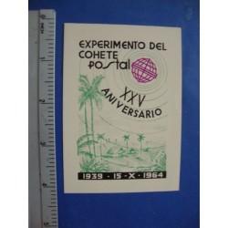 Stamp Cuba 1964. 15 oct.  XXV Aniversario del Experimento del Cohete Postal