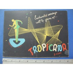 1950s Tropicana Night Club Souvenir Photo Folder,No.961