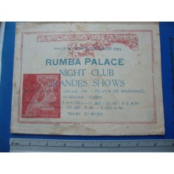 1960s Rumba Palace Night Club,Havana - Mariano, Cuba Souvenir Photo Folder